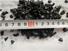 Black Granite Stone Chips 3~5mm Lumps Landscaping