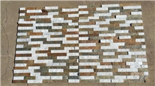 Multi Color Wall Cladding Stone Veneers Stacked