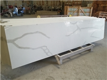 Calcutta White Quartz Bar Top Bench Countertop