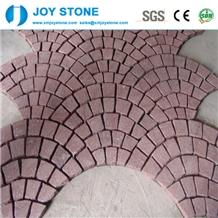 Cheap Dayang Red Porphyry Granite Cubes Pavings