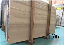 Durable New Athen Wooden Beige Marble Wall Cover