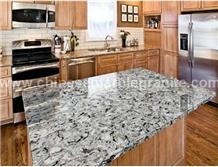 Ice Princess Marble Veins Grey Quartz Countertops