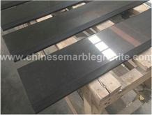 Polished Single Black Quartz Threshold Pavers