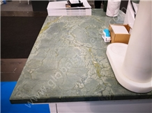 Peacock Green Slabs Tiles for Kitchen Countertops