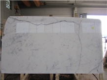 Carrara White Marble Polished Slabs