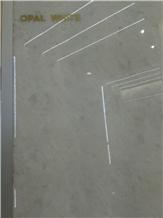 Opal White Marble Tiles, Slabs