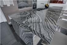 Ancient Wood Grain Marble Kitchen Countertop