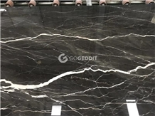 Caffe Amaro Italy Brown Marble with White Veins