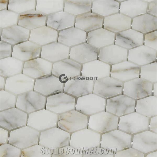 Hexagon Backsplash Marble Mosaic