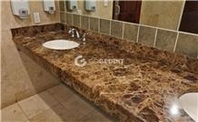 Emperador Dark Marble Bathroom Vanity Countertop