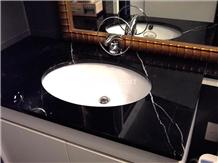 Nero Marquina Marble Bathroom Vanity Top