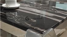 Silver Portoro Marble Kitchen Countertop