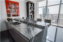 Silver Wave Ancient Wood Marble Kitchen Countertop