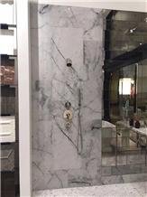 Calacatta Grey Marble Countertop and Tiles