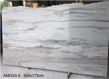 China Palissandro Bianco White Marble Slabs