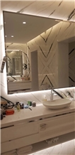 Panda White Marble Bath Room Tiles, Bath Design