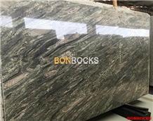 Verde Imperial Green Granite Slab