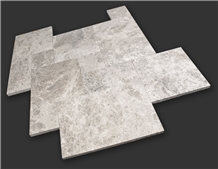 Silver Shadow Marble Chiseled Edge Walkway Paver