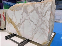 2cm Italy White Calacatta Gold Marble Stone Slabs