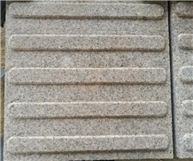 China Grey Granite Cobble Stone Blind Road Panels