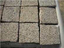 China Yellow Giallo Rust Granite Cube Stone Pavers