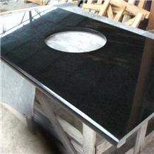Chinese Black Fuding G684 Basalt Vanity Tops
