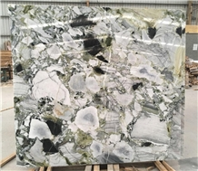 Chinese Green Ice Jade Decoration Marble Slab Tile