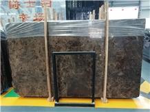 Emperador Dark Marble Tile Slab Flooring Table