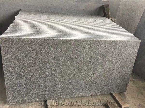 Flamed G684 Black Granite Paving Slab Stone Xiamen Mars Stone Coltd