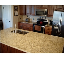 Giallo Ornamental Golden Granite Polish Countertop