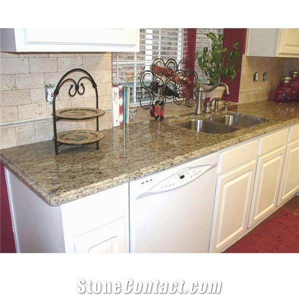 Giallo Santa Cecilia Granite Kitchen