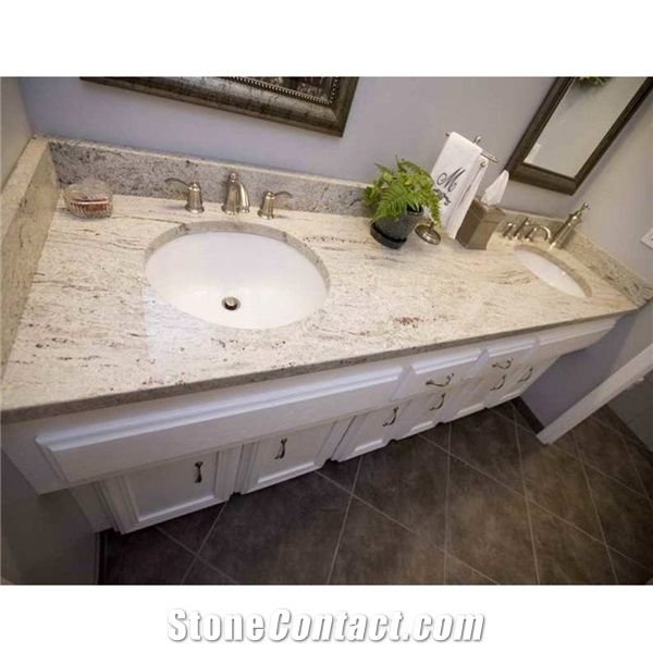 India Panther Kashmir White Granite Vanity Top From China