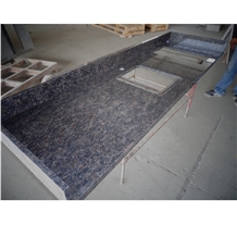 India Saphir Blue Granite Kitchen Countertop