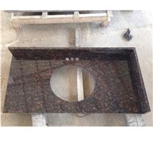 India Tan Brown Granite Bath Prefab Vanity Tops