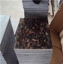 India Tan Brown Granite Polished Slabs 2/3cm