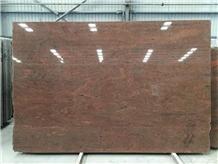 Indian Multicolor Red Granite Polished Slabs Tiles