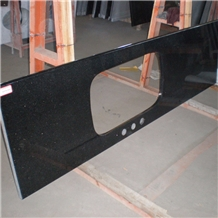 Indian Polished Black Galaxy Granite Countertop