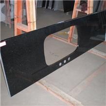 Indian Polished Black Galaxy Granite Countertop