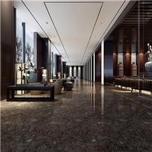 Italy Dark Sicily Grey Marble Polished Interior