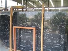 Italy Ocean Jura Black Marble Polished Floor Wall