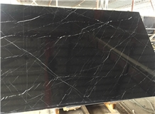 Nero Marquina Black Marble Slab Tile Floor Wall