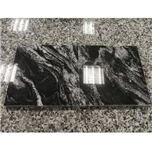 New Cosmic Black Fantasy Granite Slabs, Tiles