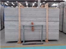Polished China Blue Wood Vein Marble Slabs Tiles