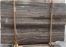 Polished Iran Grey Persian Silver Travertine Slabs