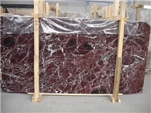 Polished Italy Rosso Levanto Marble Slabs Tiles