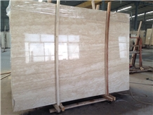 Polished Turkey Ivory Travertine Slabs Tile