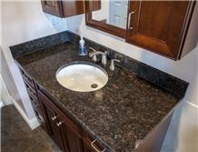 Tan Brown Granite Polished Vanity Tops& Bath Countertops