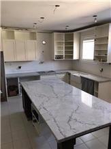 Calacatta Belgia Marble Kitchen Counter Top