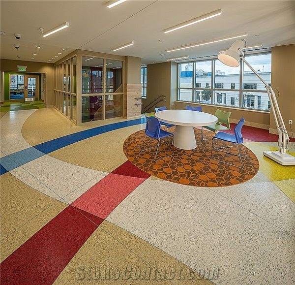 Thin Set Epoxy Terrazzo Flooring From United States