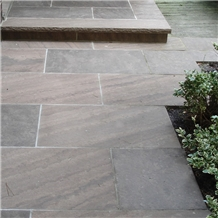 Brown Wave Sandstone Thermal Finish Pavement